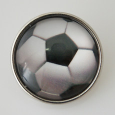 20MM snap glass Football KB2503-N Snaps Bijoux interchangeables