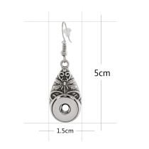 Snap Sliver Ohrring Fit 12MM Snaps Style Schmuck KS1181-S