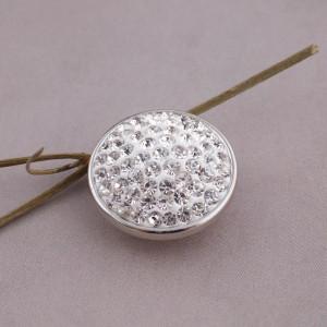 Broches de azúcar 18mm Aleación con diamantes de imitación blancos Joyas de broches KB2307
