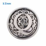 12mm Q Antique snaps Silver Plated KS5019-S snap jewelry