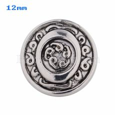 12mm O Antique snaps Silver Plated KS5017-S snap jewelry