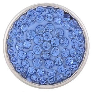 18mm Sugar snaps Alloy with light blue rhinestones KB2312 snaps jewelry