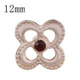 12MM дизайн оснастки розовое золото с темно-красным стразами KS9700-S оснастки ювелирные изделия