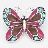 20MM Astilla de mariposa chapada con diamantes de imitación y esmalte KC6715 broches joyería multicolor
