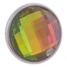 18MM Aleación rápida cristal multicolor facetado KB2701-AP broches intercambiables