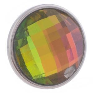 18MM Aleación rápida cristal multicolor facetado KB2701-AP broches intercambiables