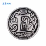 12mm E Antique snaps Silver Plated KS5007-S snap jewelry