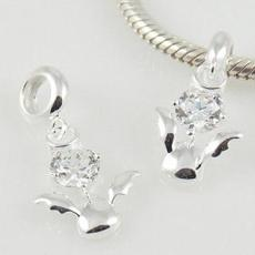 partner sterling silver dangle charm with CZ stones H&A