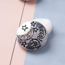 20MM dream snaps Античное серебро с покрытием из белого горного хрусталя KB6892 оснастки ювелирные изделия