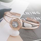 20MM snap chapado en oro rosa Apr. birthstone blanco KC5688 joyería de broches intercambiables