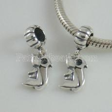 partner sterling silver dangle charm beads-Mouse