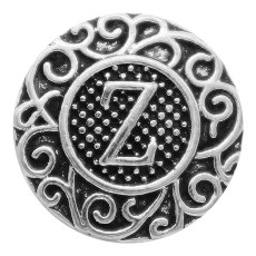 C20MM English alphabet-Z snap Antique silver  KC6770 snaps jewelr