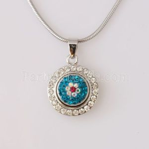 Pendant of necklace without chain fit snaps style small chunks jewelry
