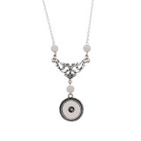 Pendant of sliver pearl Necklace with 50CM chain KC1061 snaps jewelry