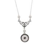 Colgante de collar de perlas de plata con cadena 50CM KC1061 broches de joyería