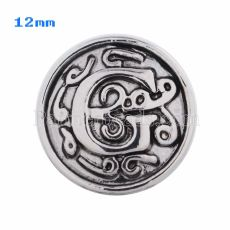12mm G Antique snaps Silver Plated KS5009-S snap jewelry