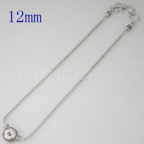 Collar colgante con cadena 45CM Fit 12MM broches