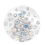 20mm Árbol de Navidad con diamantes Grabs Silver KC7692 Grabs Jewelry