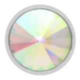 Diseño 20MM de plata chapada con diamantes de imitación multicolor Auroral KC6966 broches de joyería