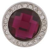 broches de cristal púrpura facetado con broches de pedrería