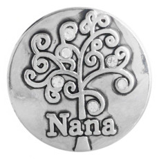 20MM nana snap button Antique Silver Plated with white Rhinestone KC9753 snap jewelry