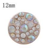 Diseño 12MM complemento chapado en oro rosa Chapado con diamantes de imitación de colores KS8092-S complemento joyería