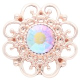 20MM Design Snaprose-Gold plattiert mit Strass KC6903 Snaps Schmuck multicolor