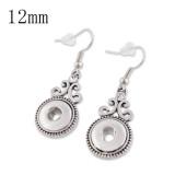 Fit 12mm Snaps Earrings con trozos de broches de ajuste de diamantes de imitación