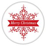 20MM Navidad esmaltado pintado C5490 estampado broches joyería