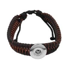 Пуговицы 1 Черная искусственная кожа KC0874 браслеты нового типа подходят с кусочками 20mm защелки