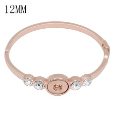 Snap gold bracelet  rhinestone fit 12MM snaps jewelry KS1281-S