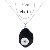 Acrylic silver pendant Necklace with 80CM chain KC1096 fit 20MM chunks snaps jewelry