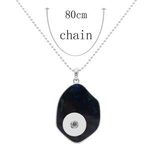 Acryl Silber Anhänger Halskette mit 80CM Kette KC1096 fit 20MM Stücke schnappt Schmuck