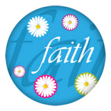 20MM faith Painted blue enamel metal C5392 print snaps jewelry