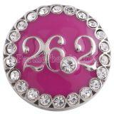 20MM maratón 26.2KM snap silver Chapado en antigüedades con esmalte rojo rosa KC5280 broches de joyería