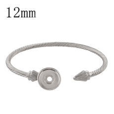 1 buttons snap sliver copper bracelet fit 12MM snaps jewelry KS1192-S