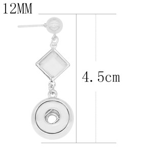 snap Earrings fit 12MM snaps style jewelry KS1269-S