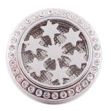 25mm white alloy Star Aromatherapy/Essential Oil Diffuser Perfume Locket snap with 1pc mix color discs as gift