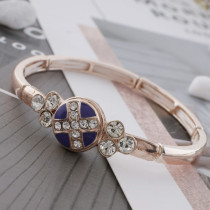 12MM cross rose gold Plated with rhinestone and purple enamel KS6332-S Diameter