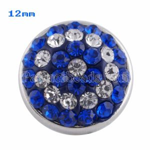 Small size snaps Style chunks with blue rhinestone KS2708-S