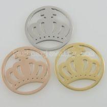 Los encantos de monedas de acero inoxidable 33MM se ajustan a la corona del tamaño de la joyería