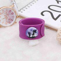 20MM Design peint en émail métal C5710 impression snaps bijoux violet