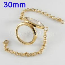 30mm Stainless steel floating charm Magnetic locket with  bracelets