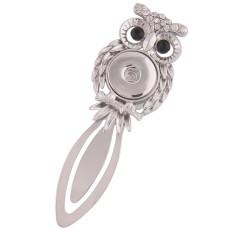 1 snaps button interchange bookmark Antique sliver with Rhinestones KC1173 snaps jewelry
