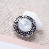 20MM enfonce des morceaux avec des bijoux interchangeables en strass blanc