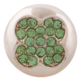 20MM  snap rose gold Plated with green rhinestone KC7634 snap jewelry
