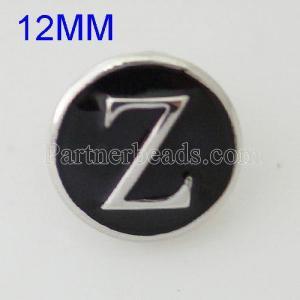 12mm Z-Druckknöpfe Versilbert mit Emaille KB6686-S-Druckknopfschmuck
