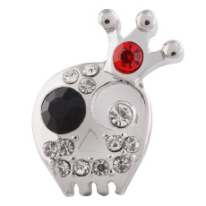 20MM Skull snap Silver Plated avec KC6451 snaps jewelry
