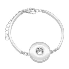 1 buttons snap sliver bracelet fit 20MM snaps jewelry KC0868