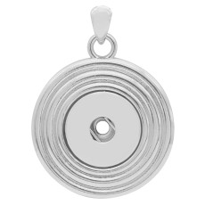 sliver Pendant with  fit 20MM snaps style jewelry KC0423